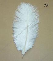 Wholesale 30 cm White color ostrich decorative plumes feather wedding table decoration centerpieces for bulk sale