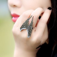 stretch rings - 2016 Flying Angel Wing Finger Ring Stereo Punk Personality Rings XY R28 Stretch Adjustable Size J1064