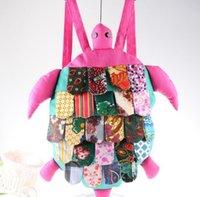 Wholesale ZJ color new national wind hand shoulder bag cloth bag Turtle children school bags Backpacks cm