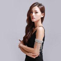 arm bracelet - 2016 New Design Bridal Jewelry Rhinestone Crystal Shinning Jewelry Arm Bracelet Headpiece For Wedding Party Evening In Stock