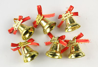 Wholesale Tiny Bell Christmas Tree Ornament for The Christmas Tree xmas Party Supplies DHL free Christmas Decorations Christmas Tree Pendant