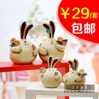 bedroom decorations ideas - Resin couple within a new rabbit home decoration bedroom holiday crafts small ornaments decoration wedding gift ideas