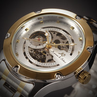 Wholesale Brand New KS NAVIGATOR Series Golden Case Luxury Skeleton Transparent Case Back Men Automatic Mechanical Stainless Steel Watches KS207