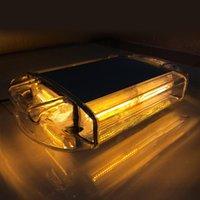 24W car security light - 24 LED Amber Yellow Car Hazard Security Warning Mini Flash Light Bar Flashing Warning Lights with Magnet Base
