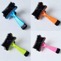 Wholesale 2015 New Pet Dog Cat Long Hair Fur Shedding Trimmer Grooming Rake Professional Comb Brush Tool