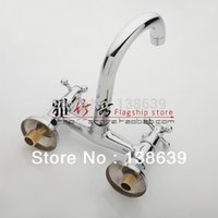 Cheap wholesale Wall Mounted Kitchen Faucet Hot and Cold Mixer bathroom kitchen mixer tap basin faucet,bathroom products