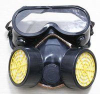 Wholesale 9167 Dust respirator dual gas respirator Face Shield Industrial Safety Equipment Mask and glasses