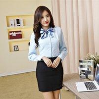 Wholesale Cheapest Blouses New Fashion Classic Elegant Loose Slim Shirt Blue