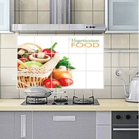 basket for vegetable - fruits vegetable food baskets adhesive decoration AY3020 kitchen removable Home Room Decor PVC Murals Decals vinyl Wall Sticker