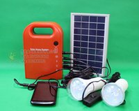 Wholesale V W mini portable solar home system solar dynamotor for home use and mobile charger