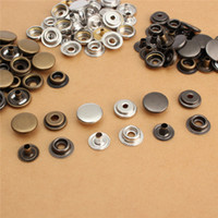 Wholesale Hot Sale High Quality Sets Metal Snap Fastener Poppers Press Studs Kit Sewing Leather Craft Tools Metal Snap Button Colors