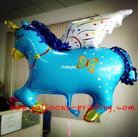 ba stores - 50pcs alumnum balloons Festival party supplies New Listing Oversized Pegasus aluminum balloons Store Events Festivals arranged Pegasus ba