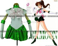 achat en gros de costume marin vert-Sailor Moon Sailormoon Green Jupiter Cosplay Costume gant M15