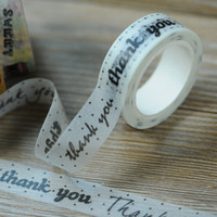 Wholesale latest stock CM M thank you paper adhesive tape