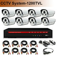 Wholesale HD TVL CMOS SONY CH CCTV System DVR Kit with H HDMI CH DVR High Quality CCTV Camera IR CUT Night Vision