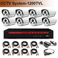 Wholesale HD TVL CMOS SONY IMX138 CCTV System DVR Kit with H HDMI CH DVR High Quality CCTV Camera IR CUT Night Vision