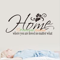 Wholesale Home Where You Are Loved No Matter What Wall Quote Sticker Art Decals DIY Decor