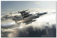 air force falcons - Air Force Silk Poster F Fighting Falcon USAF Military Fighter Jet x36inches