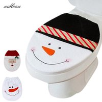 acrylic bathroom rug set - Snowman Toilet Seat Cover and Rug Bathroom Set Christmas Decoration party decoration