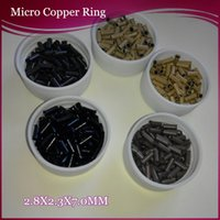 Wholesale Mini Euro locks x2 x7 mm Flared copper ring units per bottle per color options