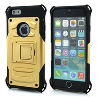 armor factory - Factory price iphone Case in TPU PC Slim Armor Hybird Hard Cases Shell with Kickstand Protective cove for iphone plus note case