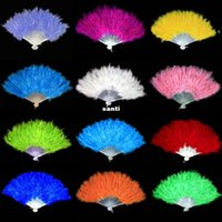 Wholesale Soft Fluffy Burlesque Wedding Hand Fancy Dress Costume Dance Feather Fan