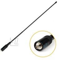 Wholesale Nagoya NA SMA Dual Band Soft Antenna For Wouxun Baofeng UV R Walkie Talkie Female Connect VHF UHF