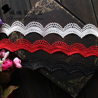 Wholesale 5Yard Exquisite water soluble white red black lace trim cm clothes wedding dress fabric diy veil accessories
