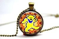 bears photos - 10pcs The Grateful Dead Bear vision Necklace Glass Photo Cabochon Necklace