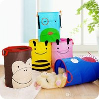 Wholesale good quallity Folding Storage Baskets characters of Cartoons Print Toys Clothes Storage Basket