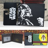 bamboo wallet - 16 styles Cartoon Poke Deadpool Superhero Star Wars Wallet Top Quality Captain America Darth Vader Mens Wallet Synthetic Leather Purses E363