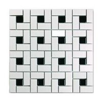 Wholesale Black and white bathroom tile mosaic ceramic tile kitchen bathroom balcony decorated mm mosaic