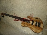 6 string bass guitar - Custom Shop Strings Bass Guitar Natural wood Electric Bass One Piece Neck Guitars