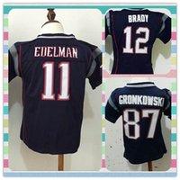 toddler jerseys - New Product American Football shirt New England Tom Brady Gronkowski Infant Toddler Baby s Blue Stitched Jerseys children Jersey
