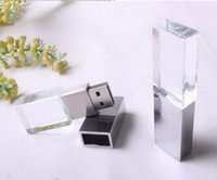 Wholesale Customize Crystal U Disk GB GB GB GB GB Usb Flash Drive Pen Drive U Disk Memory Customized LOGO