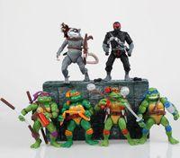 Wholesale 6pcs set TMNT Teenage Mutant Ninja Turtles Movable PVC Action Figure Collection children Toys Dolls cm inch DHL
