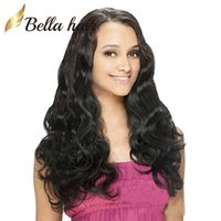 Mix Color 4#/6# bella charm - Hair Wigs For Black Women Bouncy Body Wave Charming Wavy Lace Wigs Peruvian Virgin Human Hair Bella Hair
