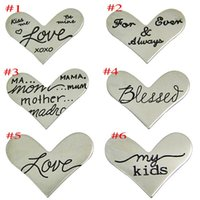 Wholesale NEW sales Floating Charm quot Heart quot Window Plate Silver Suitable mm Locket Jewelry pendantsLSFP04
