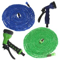 Wholesale 50FT Ultralight Flexible X Expandable Garden Magic Water Hose Pipe Fast Faucet Connector Multifunctional Spray Nozzle