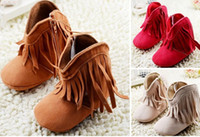 Wholesale new months girl soft bottom toddler boots new tassel baby warm boots comfortable balance children soft bottom winter pair