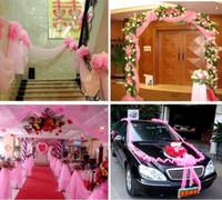 Wholesale 2016 Car Bumper Guard Guard quot Width Wedding Decorative Tulle Yarn Gauze for Romantic Decoration Party Favors Supplies