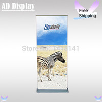 Wholesale cm Deluxe Wide Base Aluminum Roll Up Display Banner Stand With Fabric Printing Exhibition Pull Up Banner
