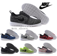 Wholesale 2016 New Nike Roshe Run Flyknit Running Shoes For Men Women Hot Sale Weaving Trainers Mens Womens Brands Sports Shoes Outdoor
