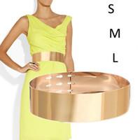 Wholesale Wide Silver Belts for Women Gold Metal Wedding Belt Cinturones Mujer Metal Decoration wedding Accessory S M L
