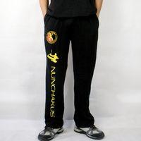 Wholesale New Arrival Beige Male Linen Kung Fu Pants Vintage Martial Arts Trousers Novelty Costume