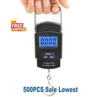 Wholesale 500PCS kg g g LCD Digital Hanging Scale lbs x lb Portable Travel Luggage Scale