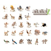 venda por atacado handmade toy-Anamalz de bordo de madeira feitos à mão Moveable Animals Toy Animal da Fazenda de madeira Zoo Brinquedos Educativos