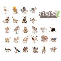 venda por atacado handmade toy-Anamalz Maple madeira Handmade animais móveis brinquedo animal de fazenda Zoo de madeira brinquedos educativos
