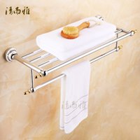 Wholesale European bathroom accessories bathroom towel rack antique gold metal pendant suit towel rack R