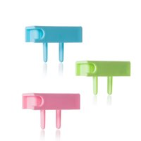 andy lots - pieces Candy Wire Socket Electric Shock Cord Socket Andy Colored Plugs Organizer Winder Anti shock Electrical Safety